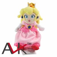 al por mayor princesa peach muñeca de juguete de la materia-Super Mario Bros juguetes de peluche 8.7inch juguetes de peluche de bebé Princesa Peach juguetes de peluche de peluche para niños Regalos de peluche Brithday