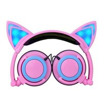 apple gaming laptops - Foldable Flashing Glowing Cat Ear Headphones Gaming Headset Earphone with LED light For PC Laptop Computer Mobile Phone