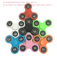 Wholesale sales promotion EDC fidget spinner fingertip gyroscope decompression gyro toy hand spinner multicolor luminous finger toys gifts For Adults
