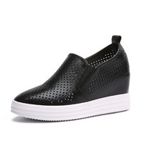 bands outings - Women Casual Shoes Breathable Shoe Women Height Increassed Heel Shoes New Fashion Ladies Office Outing Ladies Flats Women Shoes