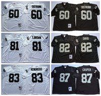 ai yellow - Hot Sale Throwback Tim Brown Jersey Men AI Davis Dave Casper Otis Sistrunk Jerseys Retro Ted Hendricks Home Black White