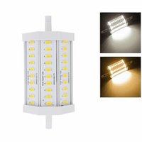 Acheter Lampe halogène 15w conduit-2016 Nouveau R7S lampe LED de maïs en silicone 12W 15W SMD5730 verre Dimmable 12W 15W 5630SMD économiser l'énergie Remplacer la lumière halogène