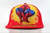 Niños del sombrero del Snapback de Spider-Man de los cabritos Gorros lindos del dibujo animado de la playa del verano de la muchacha del muchacho del casquillo de los Snapbacks del borde de los niños