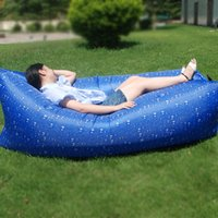Wholesale Nylon Inflatable Air Lounger Outdoor Couch Camo Portable Beach Couch Camping Air Bed Sleeping Travel Bed with Drawstring Bag DOM106361