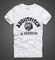 Wholesale a f factory Spring summer the new foreign trade men s short sleeve T shirt cotton men round collar Europe and the United States m