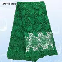 Wholesale 2016 Latest African French Lace Fabric High Quality African Lace with Fabric For Wedding dress A611RF11