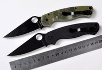Wholesale 9 model SPIDER C81 line lock back lock camping knife Hunting Folding Pocket Knife Xmas gift KNIFE sample freeshipping