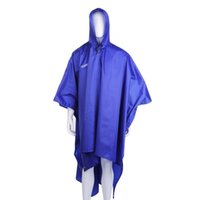 Wholesale 3 in Multifunctional Raincoat Outdoor Travel Rain Poncho Backpack Rain Cover Waterproof Climbing Camping Tent Mat Awning free