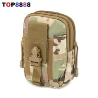 Wholesale Hot Waist Bag Waterproof Waist Pack Casual Molle Military Waist Fanny Pack Mobile Phone Case Coin Purse for Iphone Plus H052