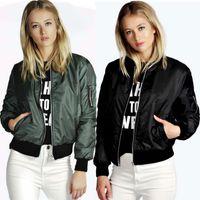 autumn jackets for women - Woman Autumn Jacke Street Style Bomber Jacket Women Thin Zipper Chaquetas Biker Outwear Coat Black Green Jackets For Women