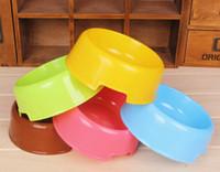 Wholesale Explosion manufacturers dog food pots pet single bowl light beautiful hit dog bowl candy color dog bowl