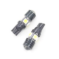 bifocal lenses - 2pcs T10 W5W W5 Car LED Auto Lamp W V Brake Light Side Turn Signals Bulb With Bifocal Lens White License Plate Light Head G0692 W0