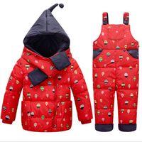 baby skate clothing - 2016 winter new Kids Girls Snowboard Suit Super Warm Jacket Pants Windproof Waterproof Children Outdoor Wear Cute Clothing Baby Suit Set