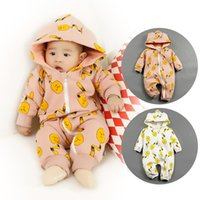 baby toys flannels - New Boy Girl Winter Clothes Thicken Warm Baby Rompers Cartoon Toys Baby Girls Coverall Hooded Baby Clothing For T
