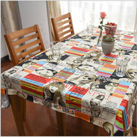 Wholesale Cotton reactive printing and dyeing European magazine tablecloth fashion Home decoration Cover Rectangular Home kitchen