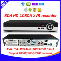 Wholesale Newest Technology CH N XVR CVI TVI AHD NVR DVR Five in one CCTV Video Recorder Onvif Network Channel IP NVR P P2P cloud xmeye