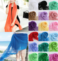 Wholesale New Lady Beauty Chiffon Wrap Dress Sarong Pareo Beach Bikini Swimwear Cover Up Scarf