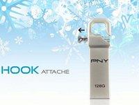 attache usb - 20pcs PNY USB Flash Drive Metal Personalizado Metal Pen Drive High Speed USB Stick gb gb gb Hook Attache Gold Edition