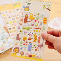Wholesale Decorative Craft Adhesive Bubble Diary kawaii Animal Photo Puffy Stickers