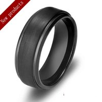 Wholesale knuckle Men s Rings Tungsten Steel Material Black Color Fashion Biker Jewelry Cool Hip Hop Band Ring Factory Outlet Free on LOGO