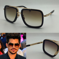 al por mayor los hombres de estilo retro-DITA gafas de sol dita Mach Una hombres marca diseñador forma cuadrada retro vintage estilo verano hombres gafas de sol brillante oro 18K con el caso original