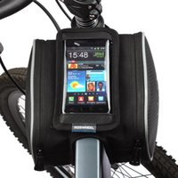 Wholesale Roswheel Bicycle Bag Top Front Frame Tube Bag MTB Road Double Pouches Touchscreen Phone Case Panniers Bike Accessory