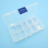 Wholesale Electronic Plastic box Casemulti function Convenient To Carry Ten grid Detachable Plastic Tool Box