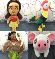 Wholesale New Moana Plush toys CM Moana Figure Toys Maui pua hei plush toy doll Moana princess Maui Action Figure toys Christmas Gift D749