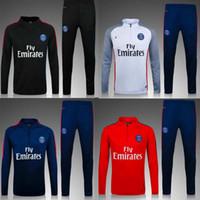 Wholesale Paris Training Suit Maillot de Foot Survetement Football Chandal Soccer Tracksuit Marseilles DIMARIA Training suit jackets
