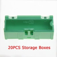 Wholesale Green SMT SMD Kit anti static Laboratory Electronic Components Storage Boxes Tool Case