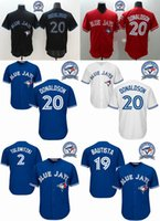 Wholesale Blue jays Josh Donaldson Baseball Jerseys Stitched th Patches Blue Jays Jerseys Men Baseball Jerseys