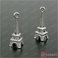 Wholesale G MM Antique Silver Plated Zinc Alloy Silver Charms Eiffel Tower Charms Diy Handmade Jewelry Findings