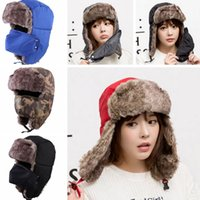 Wholesale 9 Colors Winter Unisex Earmuffs Cap With Mask Thick Outdoor Ski Cap Riding Windproof Lei Feng Hat Bomber Caps PPA764