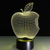 apple table decorations - 2017 NEW Apple electronics nightlight Acrylic lights lighting table lamp Led D sleeping lamp for decoration bedroom