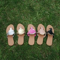 adhesive disk - PU Leather Disk Sandals Women Solid Color Flip Flops Disk Beach Sandals to Wedding Sandals Valentine Slippers DOM106277