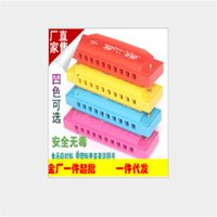 Wholesale 3pcs fashion cartoon pattern Children s musical toys candy color harmonica hot sale learning education toys
