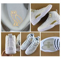 Wholesale OVO Retro XII basketball shoes for men athletic trainer sports s whtie black sneaker shoes size us