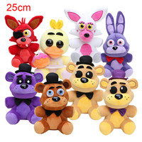 Wholesale 25cm Five Nights At Freddy FNAF Dolls Stuffed Toys Golden Freddy fazbear Mangle foxy bear Bonnie Chica Plush Doll