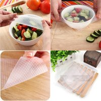 Wholesale Retail box Reusable Stretch and Fresh Food Wrap Food Fresh Keeping Clear Reusable Silicone Food Wraps Kitchen Tools