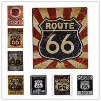 Wholesale US Route Historic Metal Tin Sign Cave Plaque Wall Home Decor Highway Road inch