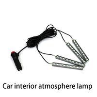 Wholesale Car Atmosphere Lamp Interior Lighting Car Light Bar x9LED Hot Selling Remote Control Beautiful RGB Light Bulbs