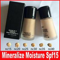 Wholesale Soft Matte Foundation Makeup Face Mineralize Moisture Foundation Liquid Spf15 ML studio fix BB foundation primer beauty