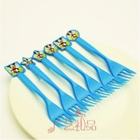 Wholesale Mickey Mouse Party Favors Plastic Knives Forks Spoons for Kids Birthday Party Decoration Baby Shower Decoration festa mickey