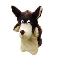bedtimes stories - New Wolf Hand Puppet Baby Kids Bedtime Story Tool Child Soft Doll Parent child Plush Toy Gift