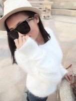 Wholesale 100 Mink Cashmere Sweater Women Sweaters and pullovers Pure Mink Cashmere Knitted Pullover ladies sweater