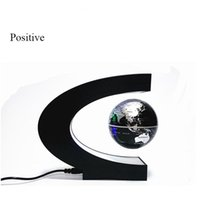 Wholesale Novelty Magnetic Levitation C Shaped Globe Rotating Floating Ball with three colors for gift and decoration