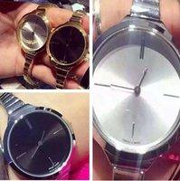 Precio de Relojes de pulsera piezas-Pulsera del reloj de manera de las mujeres Dos pedazos de alta calidad Relojes de cuarzo Rose Gold Blackface o Rose Gold Whiteface