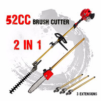 Wholesale New cc Long Reach Pole Chainsaw Hedge Trimmer Brush Cutter Whipper Snipper Pruner Line Tree with extend pole Garden Tools