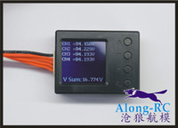 Wholesale RC MODEL racing airplane boat PART LI PO BATTERY voltage and current detecting tester