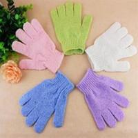 bathe bathroom products - Exfoliating Bath Glove Five fingers Gloves bathroom accessories nylon bath gloves Bathing supplies bath products F201786